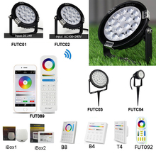 MiLight 6W 9W 15W RGB+CCT Lawn Light IP65 Waterproof DC24V AC110V 220V Outdoor Garden Lighting