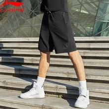Li-Ning мужские баскетбольные спортивные шорты серии Wade, 88% полиэстер, 12% спандекс, с карманами, на завязках, спортивные шорты AKSP123 MKD1620