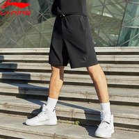 Li Ning Men Basketball Wade Series Track Shorts 88%Polyester 12%Spandex Pockets Drawstring LiNing Sports Shorts AKSP123 MKD1620