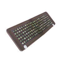 New Natural Jade Tourmaline Stones Infrared Heating Mat Full Body Relax Massage Ideal For Beautification And Health Care