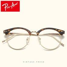 624374b46 Pro Acme Projeto Redondo Vidros Transparentes para As Mulheres Retro  Armações de Óculos Ópticos Óculos de