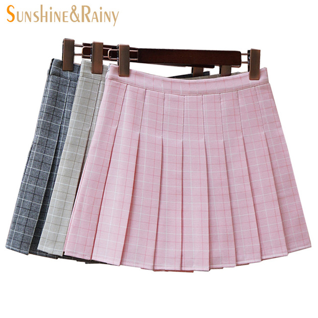 6d6e62b96d Nuevas muchachas del invierno del otoño plisado medias faldas colegialas  cos estilo de Inglaterra del envío