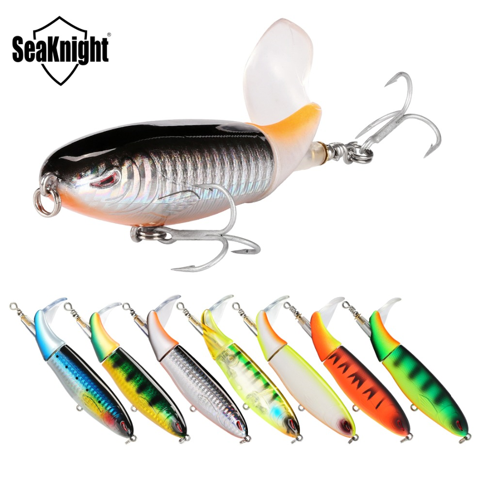 SeaKnight SK050 Whopper Plopper Fishing Lure 7 Colors Floating Rotating Tail With Strong VMC Hook Suit