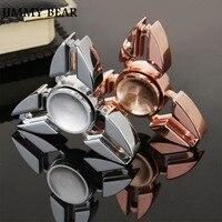 JIMMY BEAR 1 Pcs EDC Toys Triangular Hand Spinner Orqbar Metal Fidget Spinner Autism And ADHD