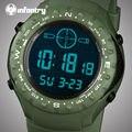 Infantry mens aviator relojes led digital deportes relojes correa de caucho de cuarzo relojes tácticos reloj 2017 relogio masculino