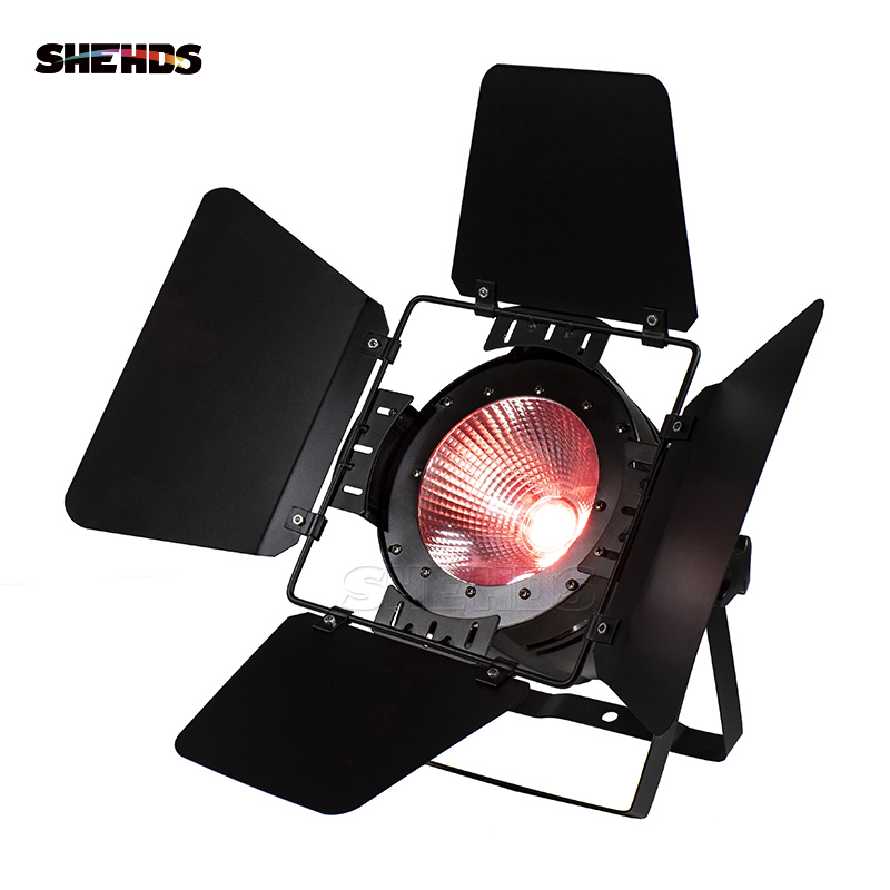 LED COB 200W RGBWA UV 6in1 Blinder Light LED Audience Studio Blinder Light Without Noisy For Clubs Theaters Churches SHEHDS show plaza light stage blinder auditoria light ww plus cw 2in1 cob lamp 200w spliced type for stage