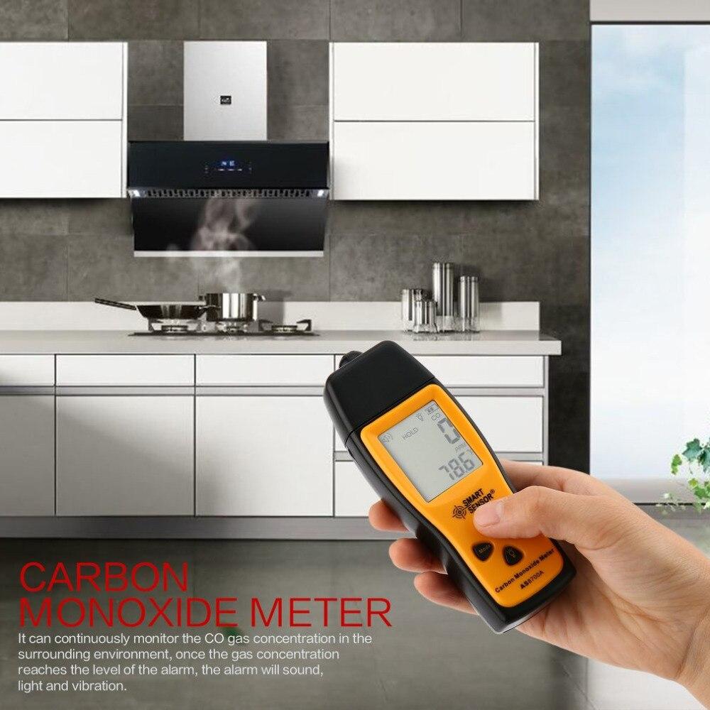 Handheld Carbon Monoxide Meter Portable CO Gas leak Detector Gas Analyzer High Precision Detector Gas Monitor