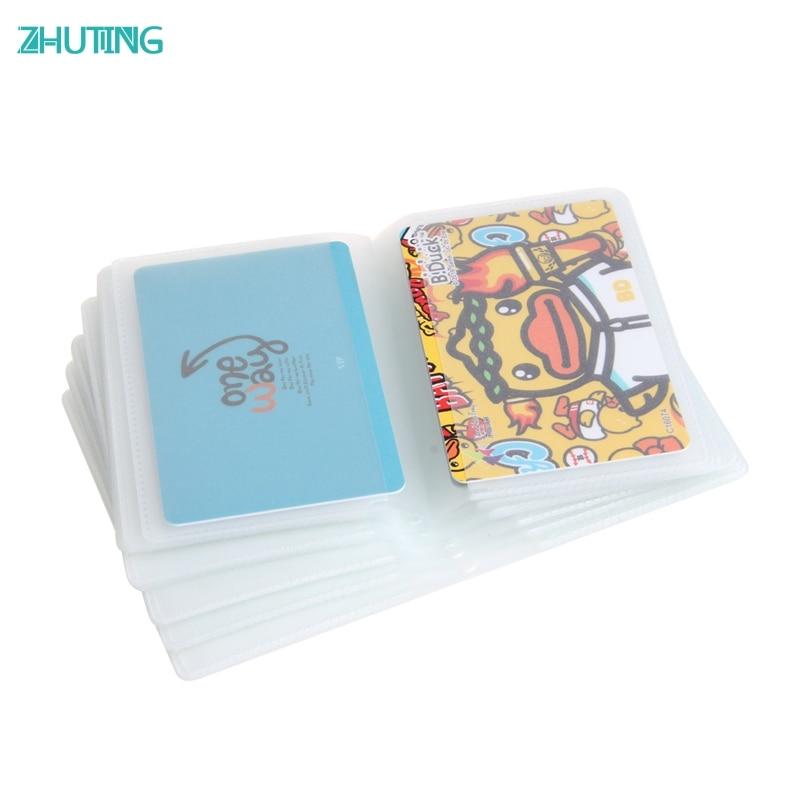 5x6 Seite 24 Karte doppelseitige Karte Sets Kunststoff Brieftasche Einsatz Für Bifold Business Kreditkarte Hält MAR29