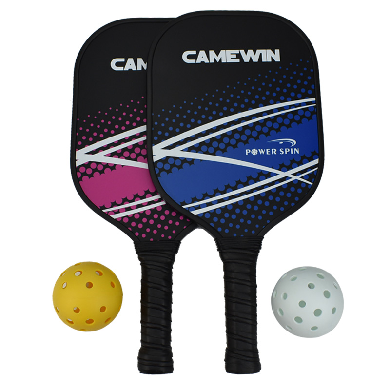 Pickleball Racket Set Carbon Fiber Composition PE Honeycomb Core 2 Pickleballs 2 Pickleball Paddle