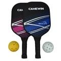 Pickleball Schläger Set Carbon Faser Zusammensetzung PE Honeycomb Core 2 Pickleballs 2 Pickleball Paddle-in Tennisschläger aus Sport und Unterhaltung bei
