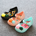 Mini Melissa Shoes 2016 Summer Cartoon Girls Sandals Cute Sandals for girls Children Shoes For Girl shoes Kids Cute pineapple