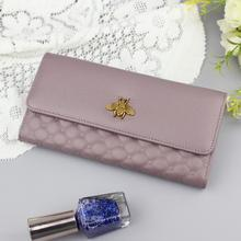 High Quality Fashion Women Wallet Long Genuine Leather