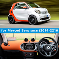 Dashmats carro - styling acessórios painel tampa para Merced - Benz smart Fortwo Cabrio forfour W454 W453 2014 2015 2016 rhd