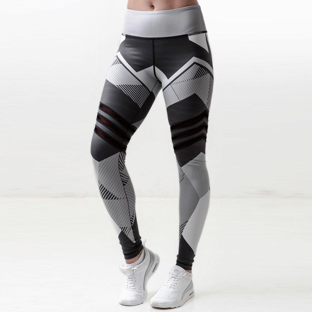 Prix pour KLV Femmes Sport Gym Yoga Workout Mi Taille Course de Remise En Forme Élastique Leggings jogging femme pantalon deporte mujer