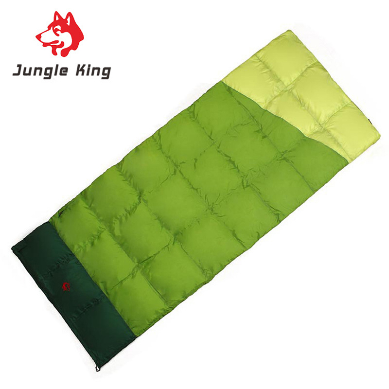 Jungle King Three Season New 300g Duck Down Filling Sleeping Bag Ultrathin Envelope Type Waterproof Outdoor
