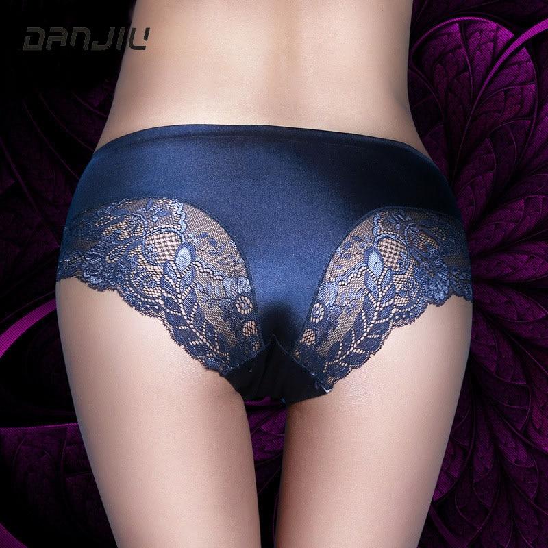 DANJIU Hot High quality Women Lace Sexy Panties Luxury Seamless Solid Underwear Elegant Soft Woman Breifs