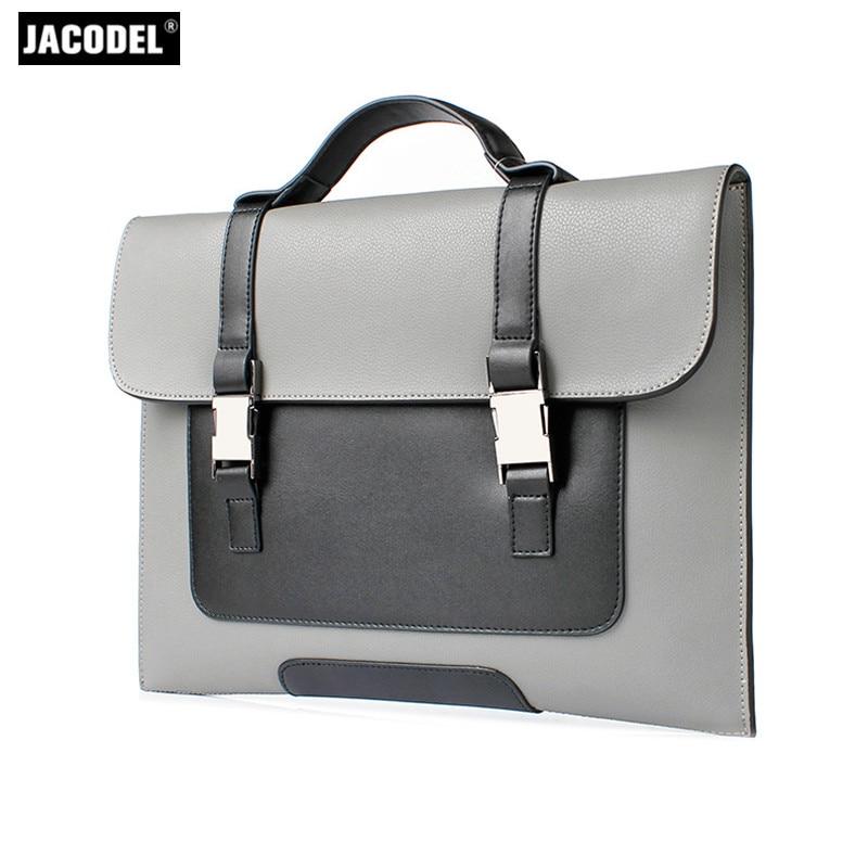 Jacodel Genuine Leather Men's Briefcase Handbags for Macbook Air Xiaomi Lenovo 12 13.3 Laptop Notebook Tablet PC Bags for Men xiaomi mi notebook air 12 5