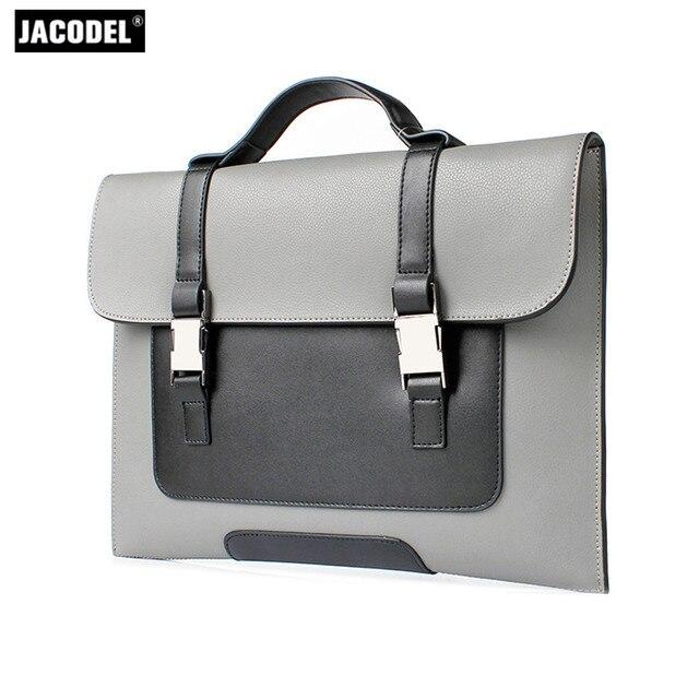 Jacodel Genuine Leather Men S Briefcase Handbags For Macbook Air Xiaomi Lenovo 12 13 3 Laptop