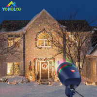 Laser Star Light Projector Showers Christmas Garden Landscape Lighting Waterproof Outdoor Red Green Motion 8 Modes Star Light
