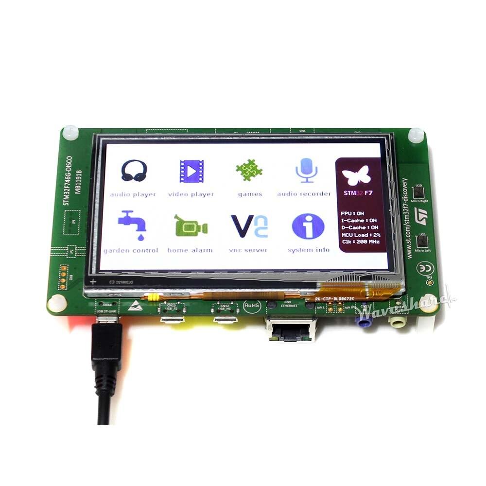 D'origine STM32 Développement Conseil STM32F746G-DISCO 32F746GDISCOVERY, Découverte kit avec STM32F746NG MCU