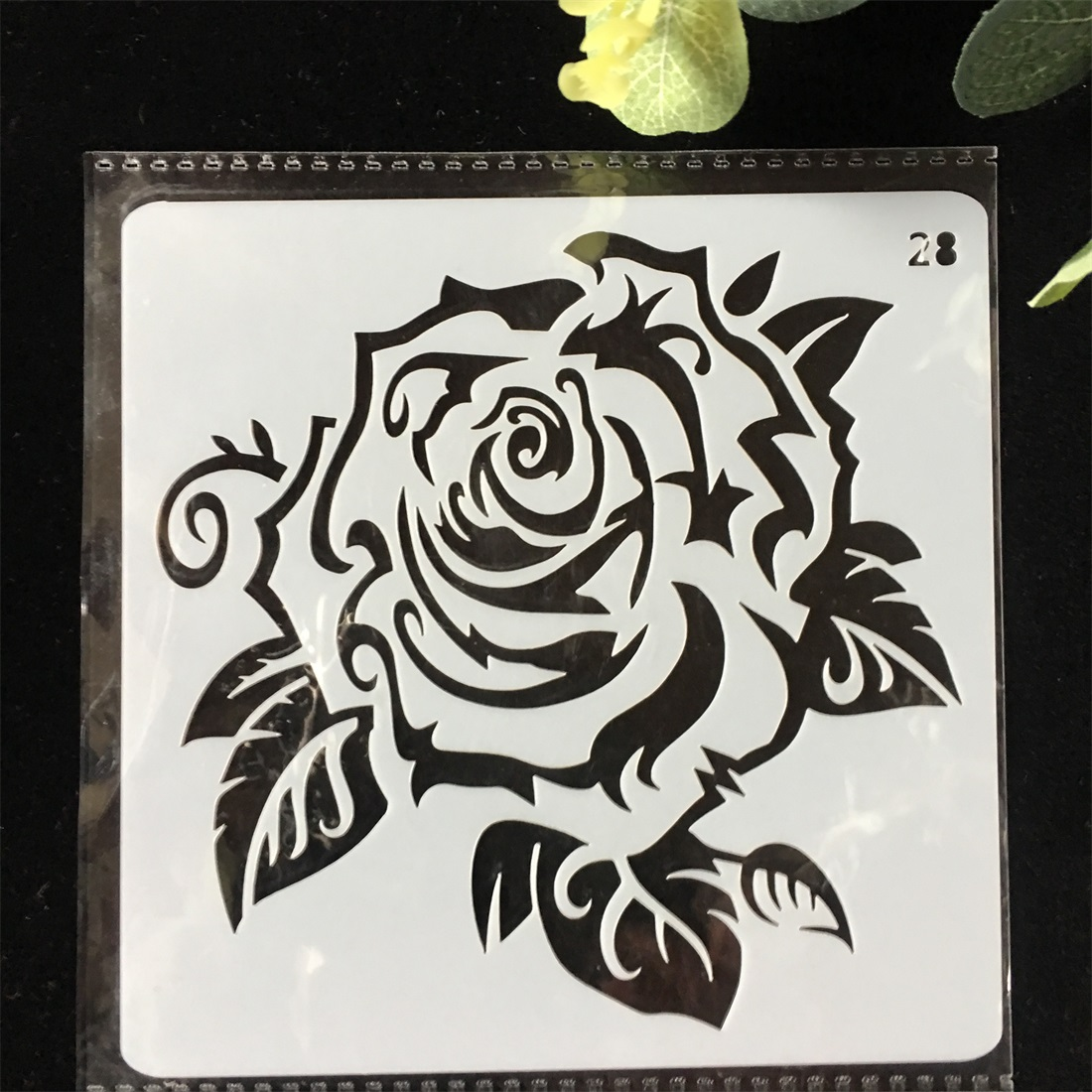 1Pcs 13cm Rose Flower  DIY Layering Stencils Wall Painting Scrapbook Coloring Embossing Album Decorative Card Template