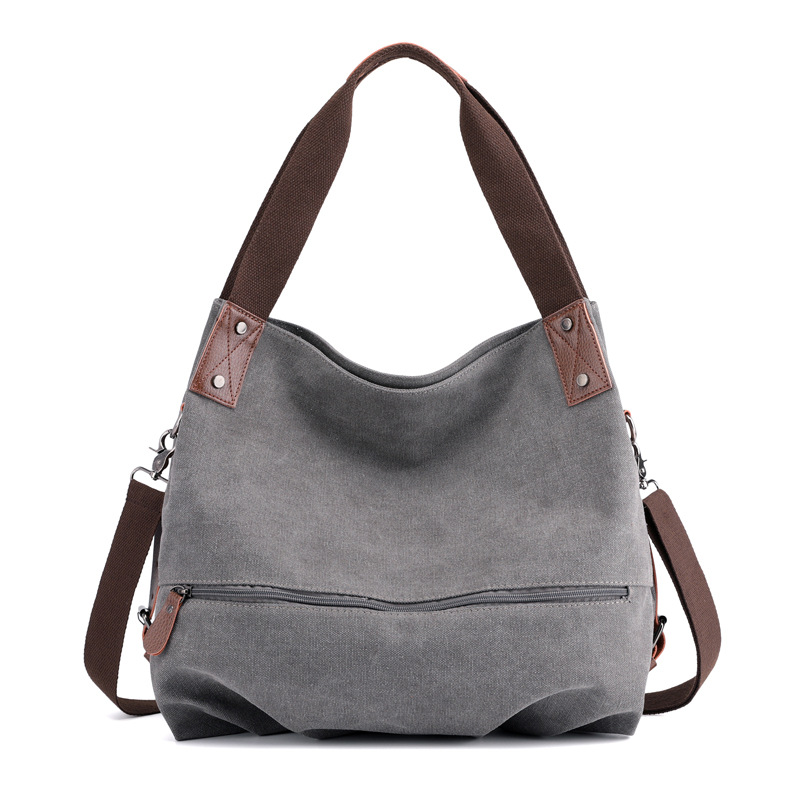 09d18b6dfe Large Causal Tote Canvas Bag Drop Shipping Solid Shoulder Crossbody ...