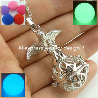 Free Shipping Pray Angel Elf Locket Necklace Essential Oil Fragrance Aromatherapy Diffuser