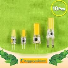 10pcs LED G4 Lamp Bulb Dimmable AC DC 12V 220V COB LED G9 3W 6W 10W COB LED Lighting Replace Halogen Spotlight For Chandelier цены