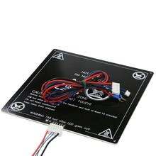 Anet 12/24V A6 A8 плюс E10 E12 E16 MK3 радиатор 160 220*220/300*300*3 мм Алюминий с подогревом для i3 Мега S 3D принтера рассадник запчасти