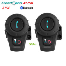 2Sets 500M Full Duplex Wireless Bluetooth Motorcycle Helmet Intercom BT Interphone Headset Intercomunicador For Phone/GPS/MP3+FM