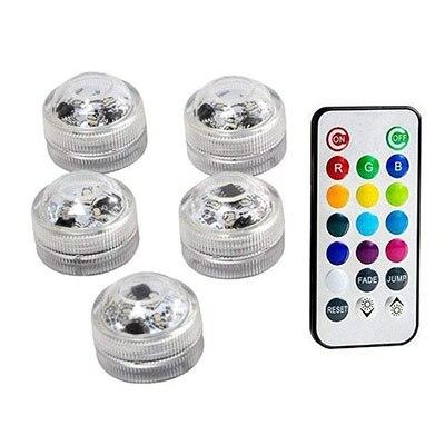 Подводные светодиодные лампы водонепроницаемый SMD3528 RGB подводный ночник Свадебный Чай Ваза-лампа чаша вечерние новогодние гирлянды - Испускаемый цвет: 5 Lamp 1 controller