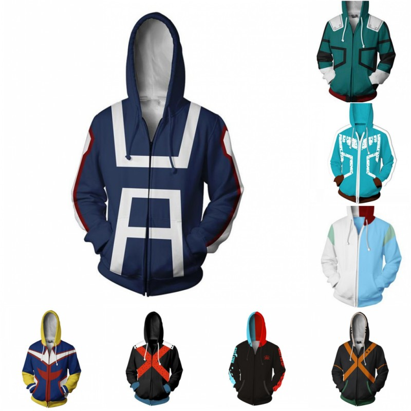 My Hero Academia Hoodie Anime Cosplay Costume Sweatshirts Bakugo Katsuki 3D Hoodies Plus Size Fashion Jackets College Game Coat