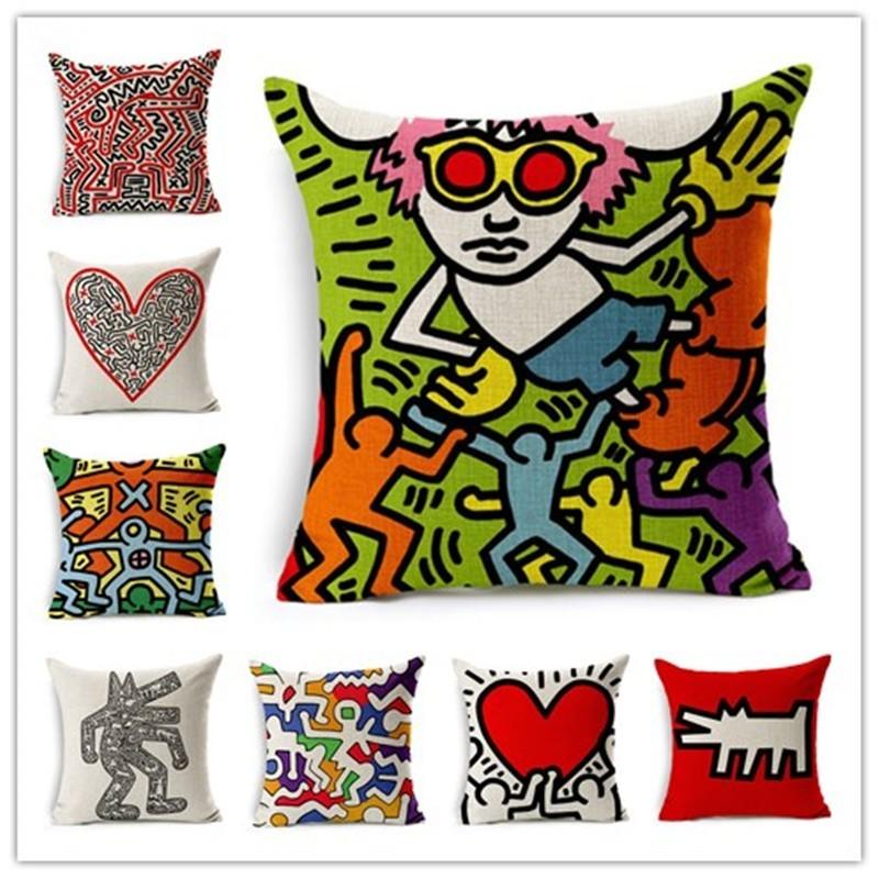 Popular keith haring buy cheap keith haring lots from - Fundas cojines sofa ...