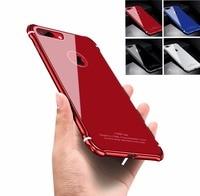 Lusso Ultra Sottile di Caso di Protezione Completa Per il iphone 6 6 S 7 8 PIÙ Specchio di Vetro Temperato piastra di Copertura casse del telefono struttura In Metallo shell