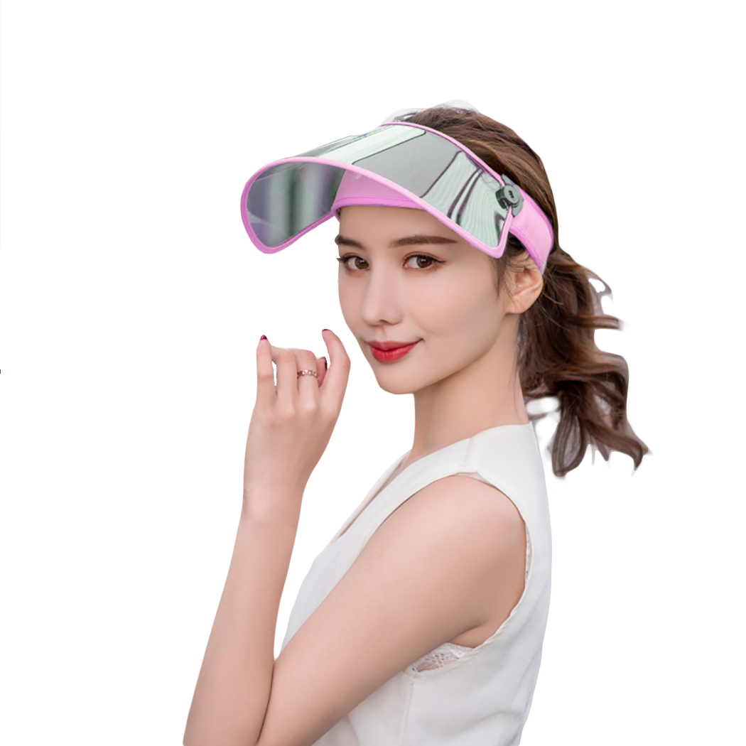 New Windproof Sun Hats Sunshade Caps Topless Empty Sun Visor Caps UV Protection Hat Riding UV Sun Hat 2019 Woman Summer Beach