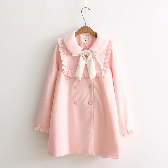 a196870d5 2017 NEW Winter Baby Pink   Sky blue Japan Sweet Young girl Bow ...