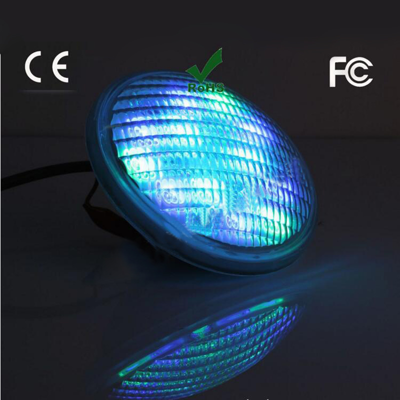 Фото Par56 72W RGB underwater Light Pond Fountain LED Swimming Pool Lamp AC12-24V Waterproof IP68 Stainless