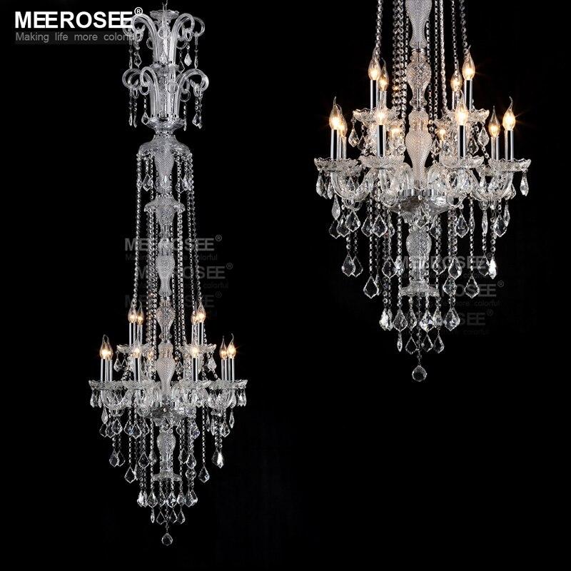 crystal chandelier modern 12 arms top k9 crystal chandelier suspension hanging lamp lustre de. Black Bedroom Furniture Sets. Home Design Ideas