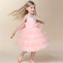 Новые Платья с цветочным узором для девочек платье поясом причастия