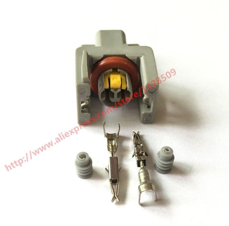 10 Sets Delphi 2Pin Auto Fuel Injector Waterproof Connector Spray Nozzle/oil Atomizer Plug 240PC024S8014 Car Plug Connectors