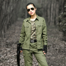 Military Hunting Clothes For Women Tactical Camouflage Multicam Suit  Uniforme Cotton 34b0db09a0