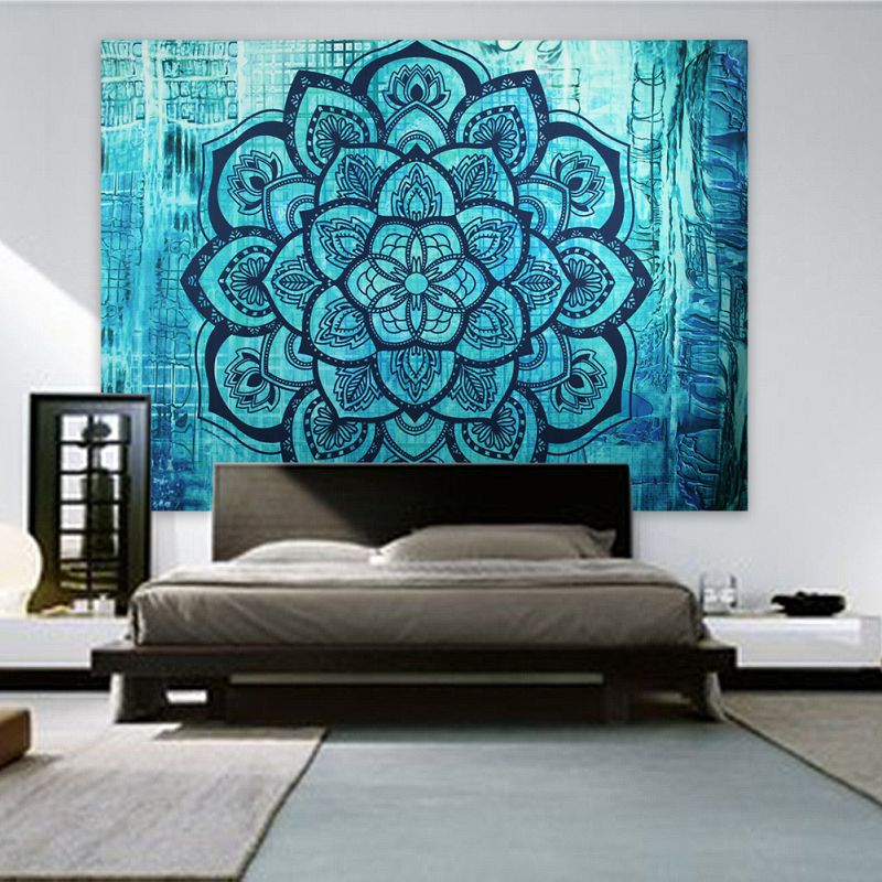 Indian Bohemian Mandala Tapestry Wall Hanging Sandy Beach Picnic Throw Rug Blanket Camping Travel Mattress Sleeping Pad 2018