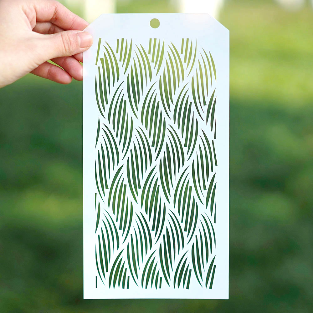 12*24 Cm Seamless Wavy Stencil For Scrapbooking Painting Album Paper Card Making Craft Decorative Embossing Template