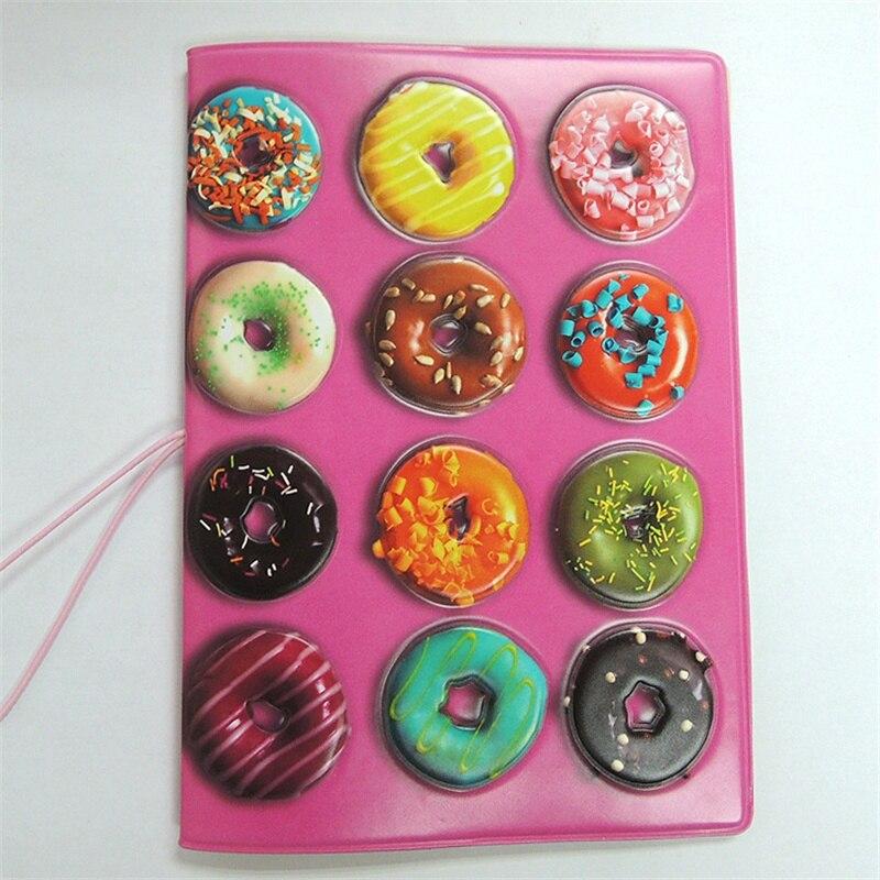 14*10 Cm Verkaufsrabatt 50-70% Gepäck & Taschen Effizient Mädchen Wie Donut Candy Passport Abdeckung 3d Pu Leder Reisepass Kreditkarte Halter Größe