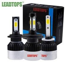 Leadtops светодиодные фары автомобиля aouto противотуманные H1 H3 H4 H7 H11 9005 9006 HB3 HB4 72 Вт водонепроницаемый IP68 6500 К FJ