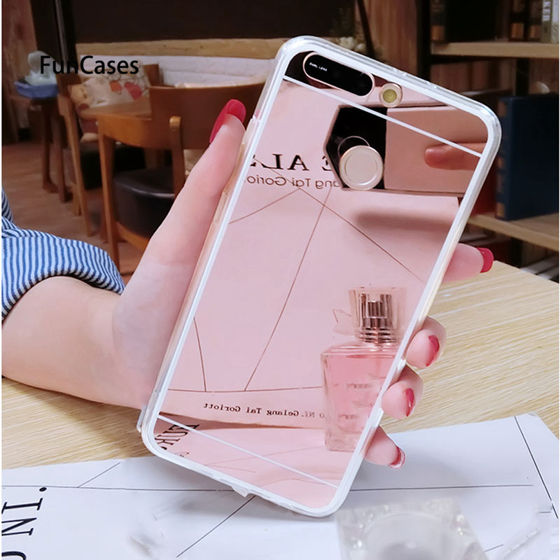 Mirror TPU Case For <font><b>Huawei</b></font> Y9 Y7 Pro P Smart 2019 <font><b>Y5</b></font> Y6 <font><b>2018</b></font> P20 Pro P10 P9 Lite 2017 Honor 8A 8C 8X 8Lite 7A 7C Pro Cover image