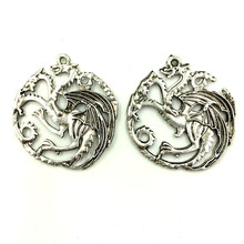 20Pcs Antique Silver Tone Hollow Dragon Wings Charms Pendant Jewelry Findings 36x32mm wings amulet pendant angel wings charms rose wings charms diy handmade jewelry charms tibetan silver tone a2022 10pcs