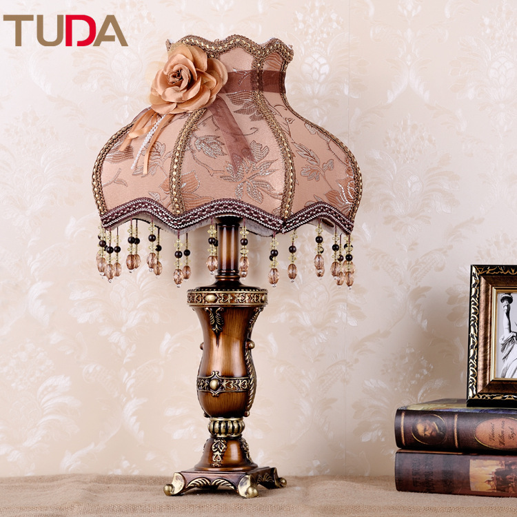 TUDA LED Table Lamp Retro Fabric Living Room Bedroom Home Decoration Bed Lamp Resin Table Lamp Floor Lamp E27 110V 220VTUDA LED Table Lamp Retro Fabric Living Room Bedroom Home Decoration Bed Lamp Resin Table Lamp Floor Lamp E27 110V 220V