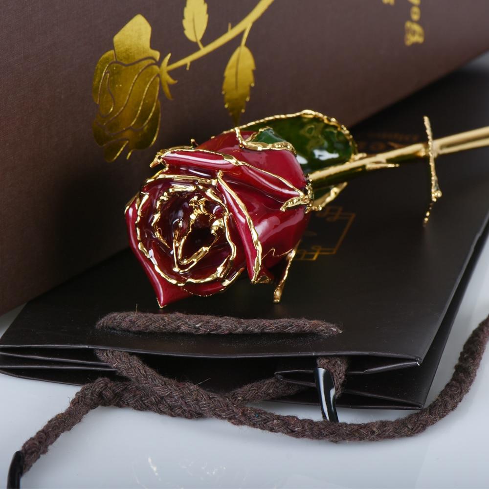 Aliexpress Com Buy Wr Romantic Rose 24k Gold Dipped: WR Romantic Wedding Ornament Long Stem Rose Beautiful