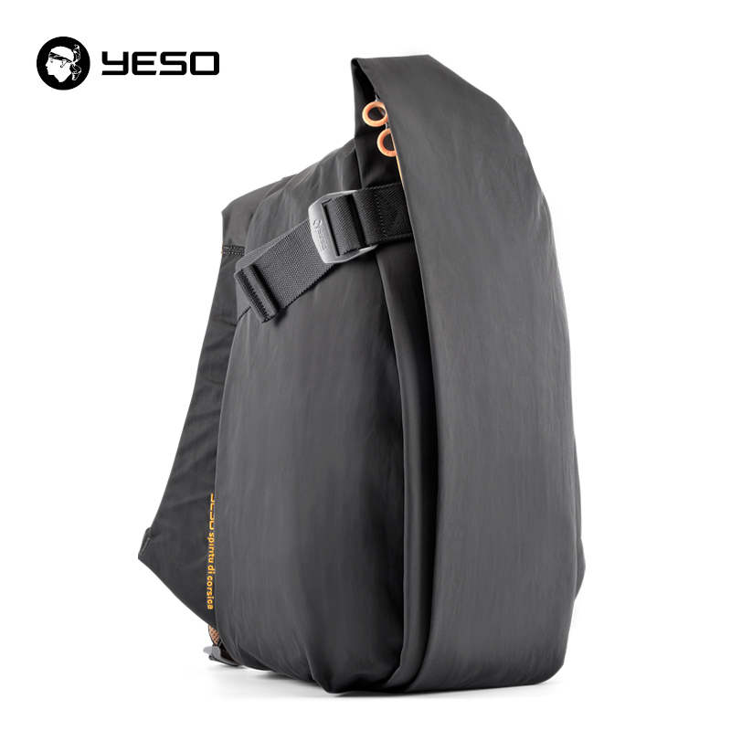 Yeso Irregular Laptop Backpack Men Fashion Large Capacity Travel Backpack Multifunctional Waterproof Oxford School Backpack